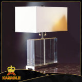 Hotel Bedroom Fabric Lampshade Table Crystal Lamps (TL1114)