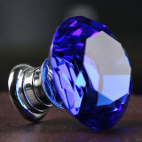 Dia. 30mm Blue Little Crystal Knobs in Silver