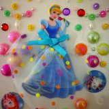 Princess Decorative Colorful DIY Adhesive Pearl Sticker for Girls