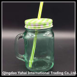 450ml Green Colored Juice Glass Mason Jar