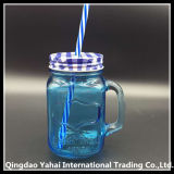 450ml Blue Colored Glass Mason Jar / Mason Jar