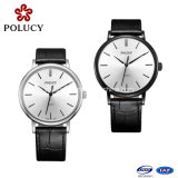 2016 Fashion Stainless Steel Mineral or Sapphire Glass Genuine Leather Unisex Watch